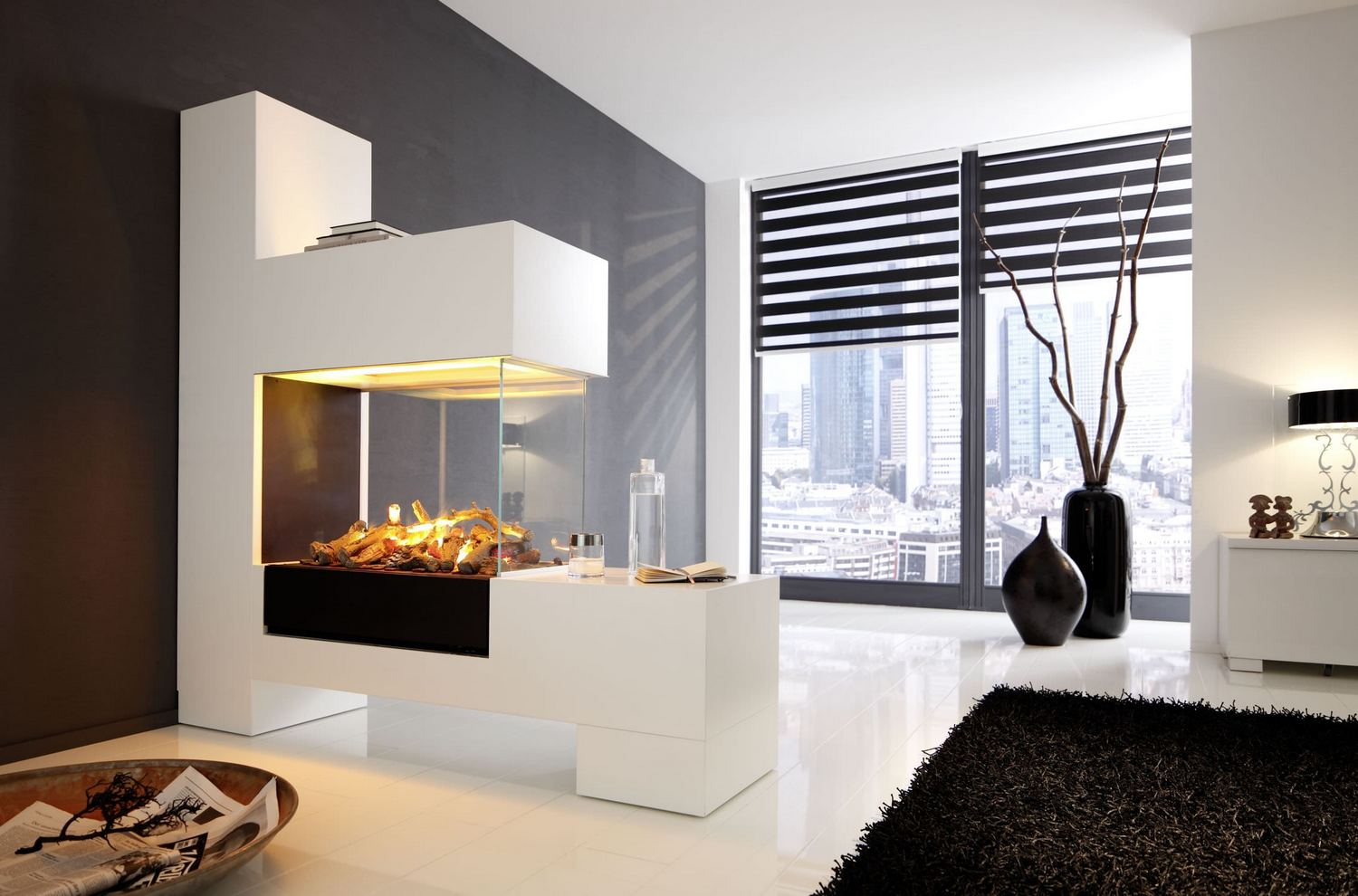 modern-electric-fireplace-with-glass-mantel-in-luxury-living-room-design-ideas