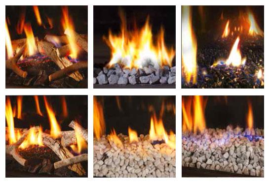 Выбор топливного слоя горелки для газовых каминов DRU фото